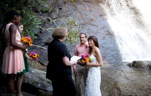 Our 1st Wedding: Silver Run Falls, NC. July 14, 2012