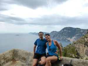 "Enjoying 4-hour hike above the Amalfi Coast. Locals call it, ""Path of The Gods."""