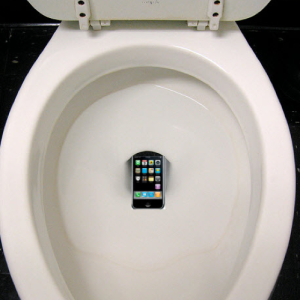 Not my actual iPhone, rather a tragic reenactment I found on the internet.