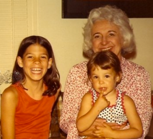 My sister and me with our Nana Lil.