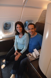 Husband stops by my apartment in the sky on Etihad Airways A380 First Class Suites